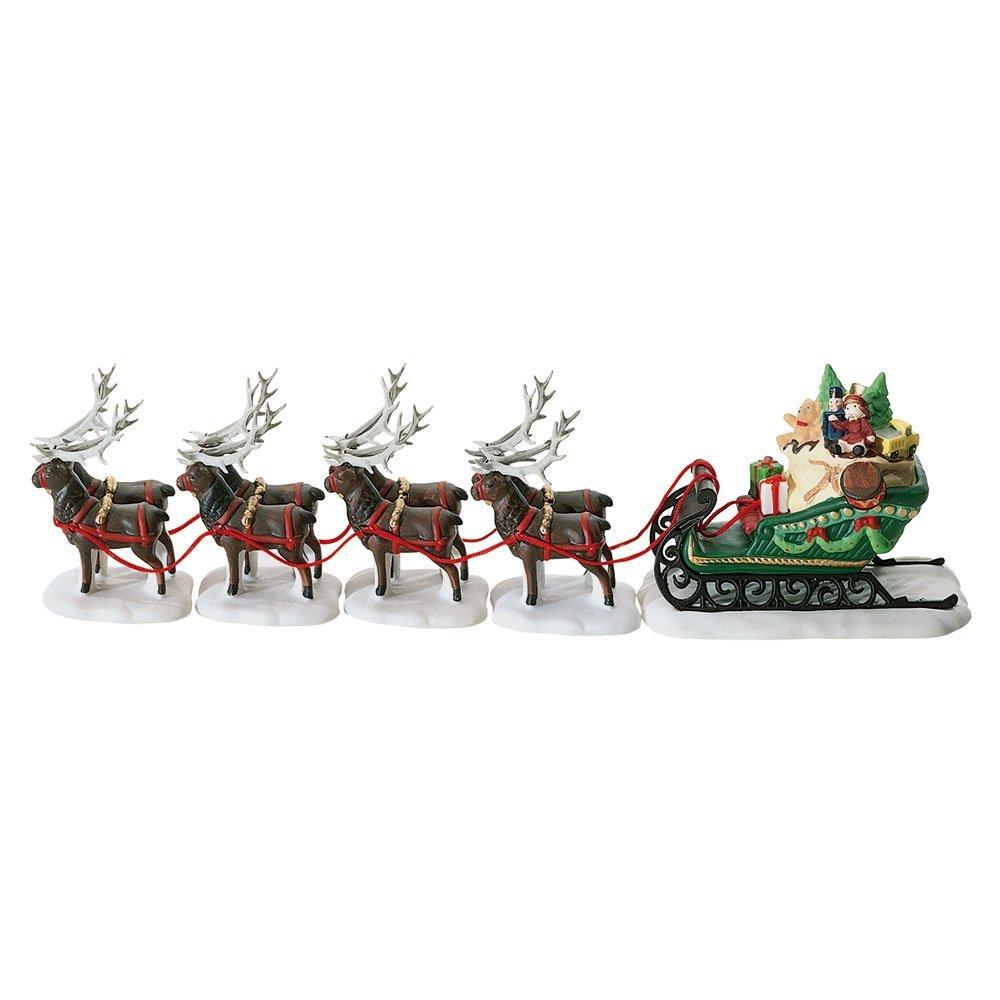 Sleigh & Eight Tiny Reindeer Figurine 56.56111
