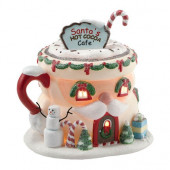 Santa's Hot Cocoa Café Figurine 4020207